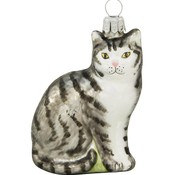 Sylvia Grey Tabby Cat Ornament