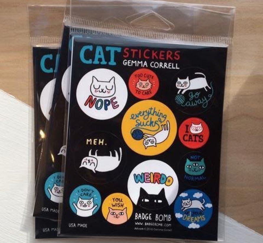 Cattitude Fun Stickers