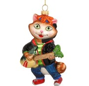 George the Musician Cat Ornament