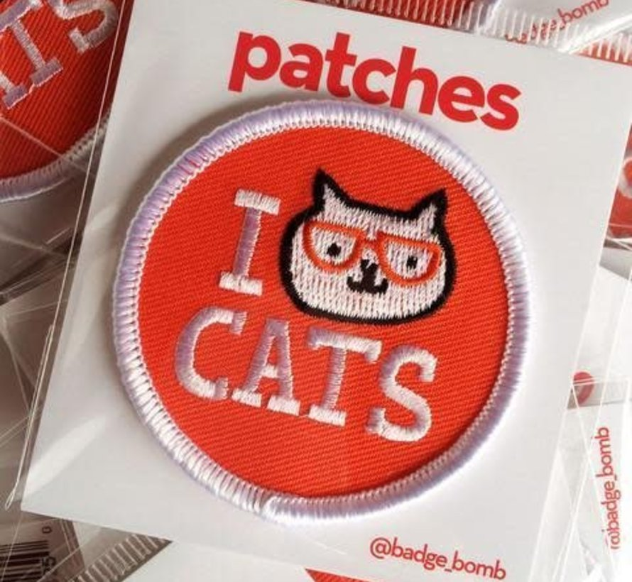 I Love Cats Iron-on Patch