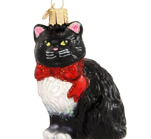 Mittens Tuxedo Cat Ornament