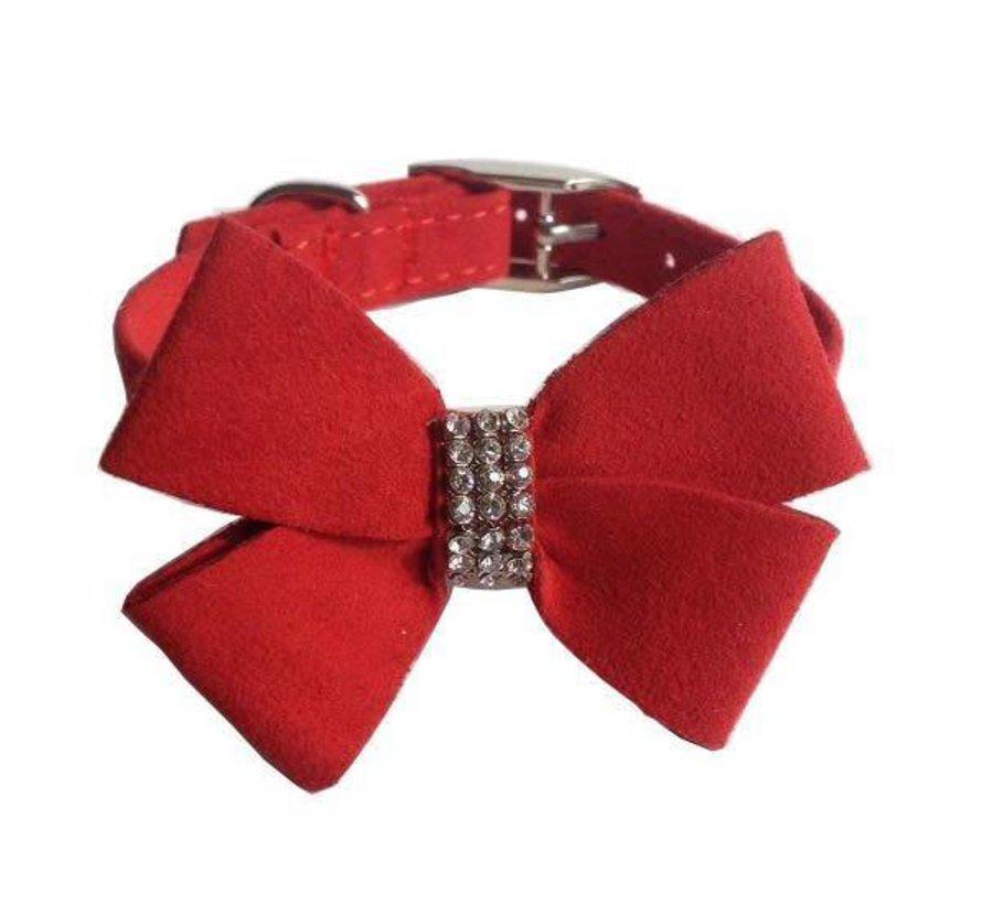 Mabel Bow Velvet Collar