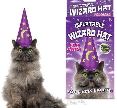 Merlin Moggie Inflatable Wizard Hat