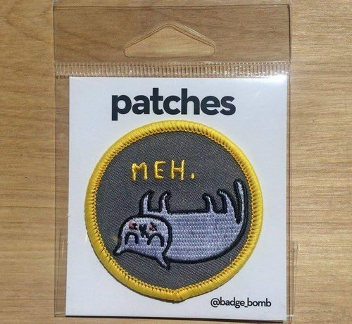 Meh Iron-on Patch
