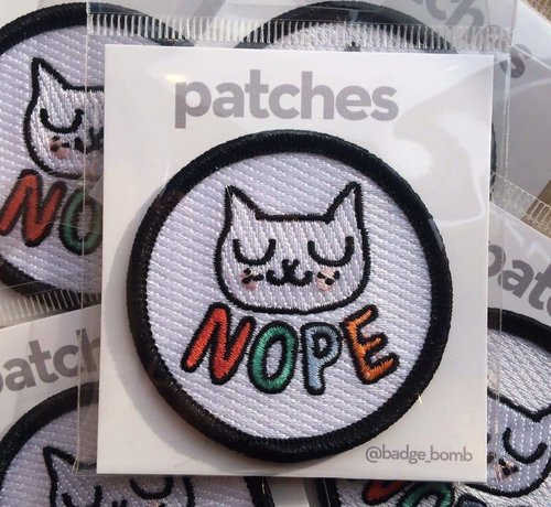 Nope Iron-on Patch