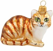 Sammy Orange Tabby Cat Ornament