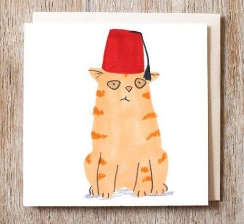 Toby the Cat in Fez Hat