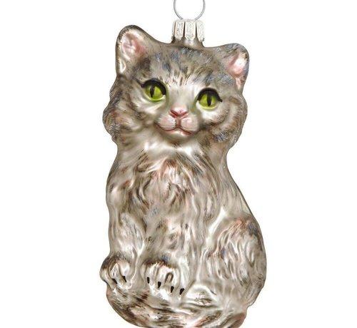 Twinkle Silver Cat Ornament