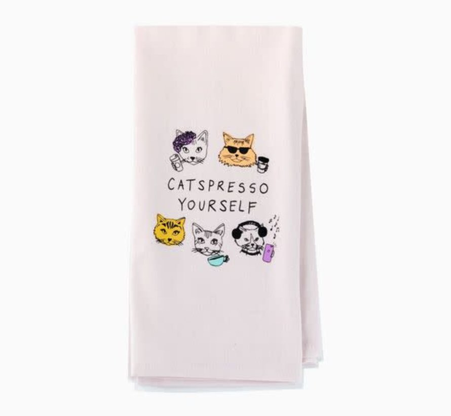 Catspresso Yourself Tea/Dish Towel