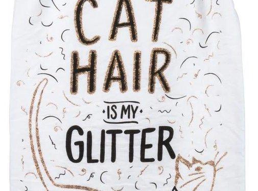 Cat Hair Is My Glitter Tea Towel