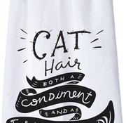 Cat Hair Both A Condiment Tea Towel