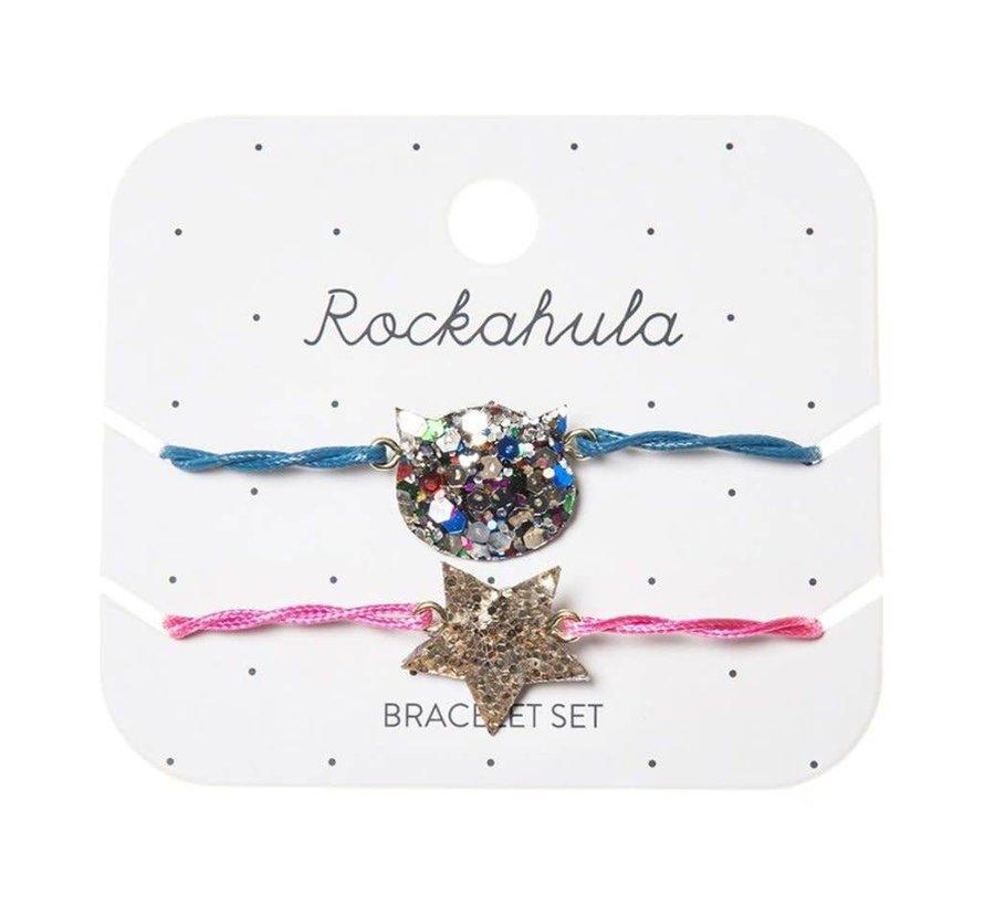 Maisie Glitter Cat Bracelet Set
