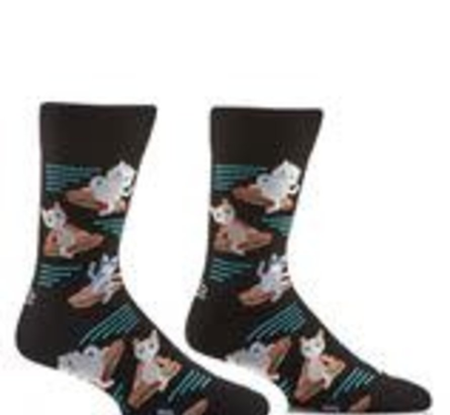 Cats and Sandwiches Men's Socks