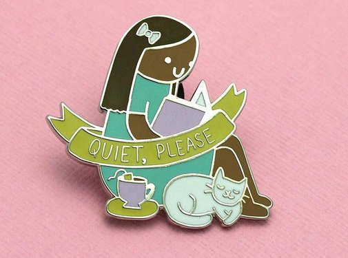 Quiet, Please - LIMITED EDITION Ruth Enamel Pin