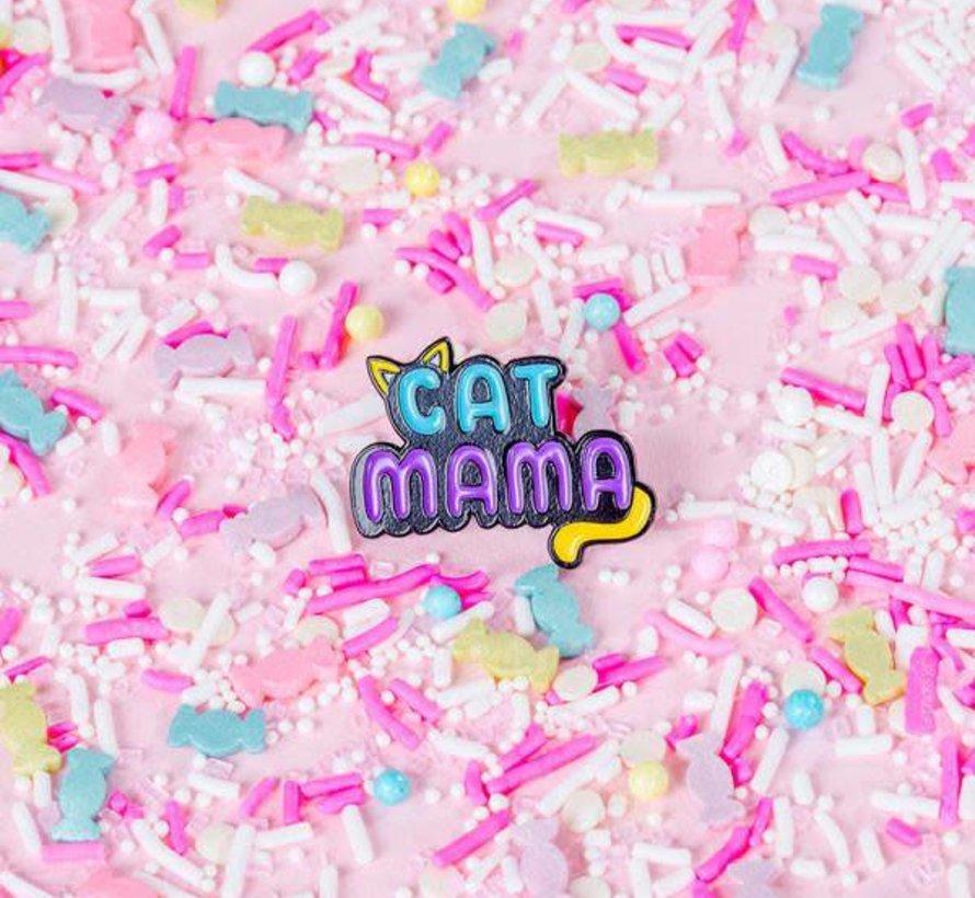 Cat Mama Enamel Pin