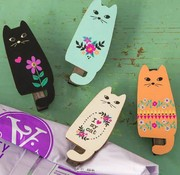 Happy Cats Magnet Clips