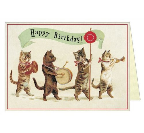 Cat Parade Birthday Card