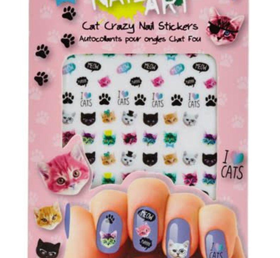 Cat Crazy Nail Art Stickers