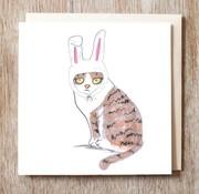 Bunnie Cat Card
