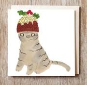 Fudgie Cat Christmas Card
