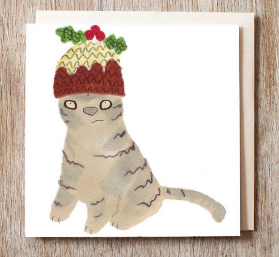 Copy of Caspar the Black Cat in Sombrero Card