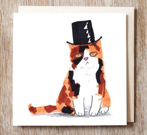 Copy of Robbie the Cat in Tartan Hat Card