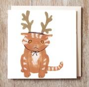 Kitty Reindeer Card