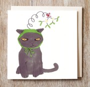Mistletoe Christmas Kitty Card
