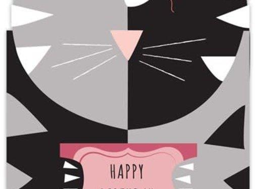 Kitty Hugs Birthday Card
