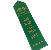 miso handmade Cat People Award Ribbon More Cats Than Kids