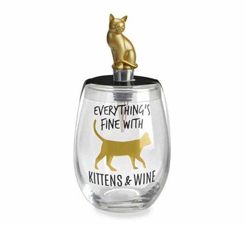 WildEye Luna Wine Glass and Stopper