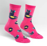 Youngson Skrillex Cat Scratch Women's Crew Socks