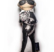Kahri Karl Lagerfeld with Choupette Doll