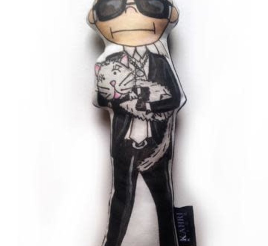Karl Lagerfeld with Choupette Doll
