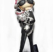 Kahri Christmas Karl Lagerfeld with Choupette Doll