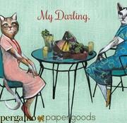 Pergamo Two Darlings Cat Card