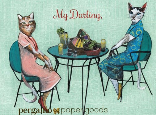 Pergamo Two Darlings Cat Card