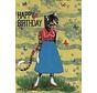 Papillon Retro Birthday Card
