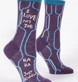 Blue Q I Love My Job Crew Socks