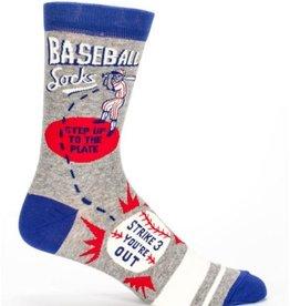 Blue Q Baseball Men's Crew Socks