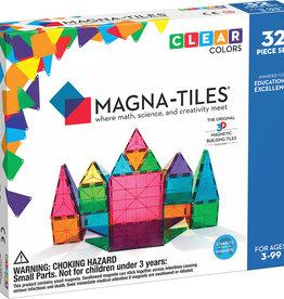 Valtech - MagnaTiles Clear Colors 32 pc Set: Magna Tiles
