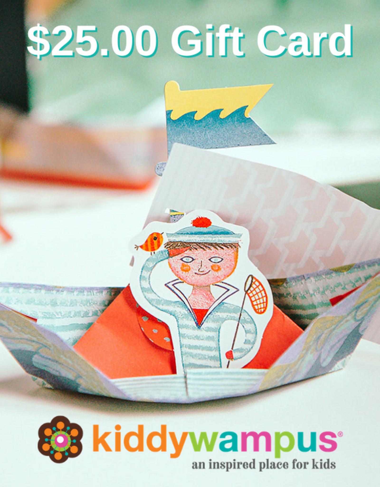 kiddywampus Gift Card $25