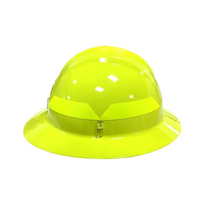 BULLARD HI-VIZ YELLOW Bullard Wildland Full-Brim Fire Helmet w Six Point 4a3f4eee6