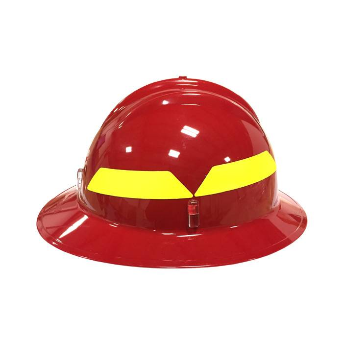 BULLARD Red Bullard Wildland Full-Brim 6-Point Ratchet Fire Helmet Hard Hat