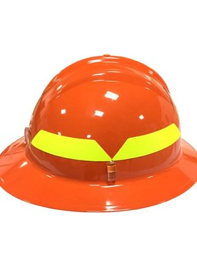 BULLARD Orange Bullard Wildland Full-Brim 6-Point Ratchet Fire Helmet Hard Hat