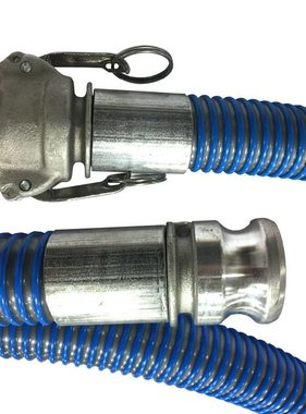 "A-1 BCWHD 1.5"" x 15' SUCTION HOSE w/CAM LOCK CONNECTORS"
