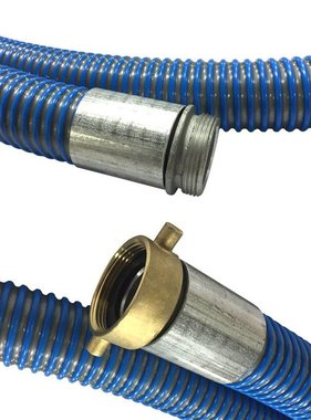 "A-1 BCWHD 1.5"" x 10' SUCTION HOSE w/PIN LUG CONNECTORS"