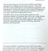 Wildland Fire IRPG Incident Response Pocket Guide Notebook (2018 Edition)