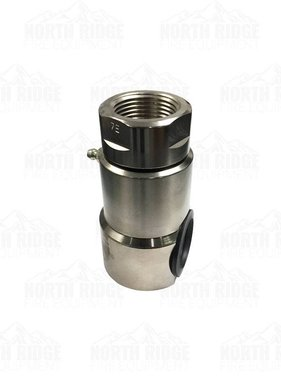 "Hannay Reels Hannay Hose Reel 1"" 90-Degree FxF Steel 4000 PSI Full Flow Swivel Joint (GLT VITON)"