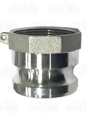 """2.5"""" A250 Male Cam Lock x Female NPT"""